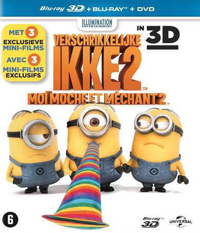 De Verschrikkelijke Ikke Verschrikkelijke Ikke 2 3d Despicable Me 2 3d Blu Ray