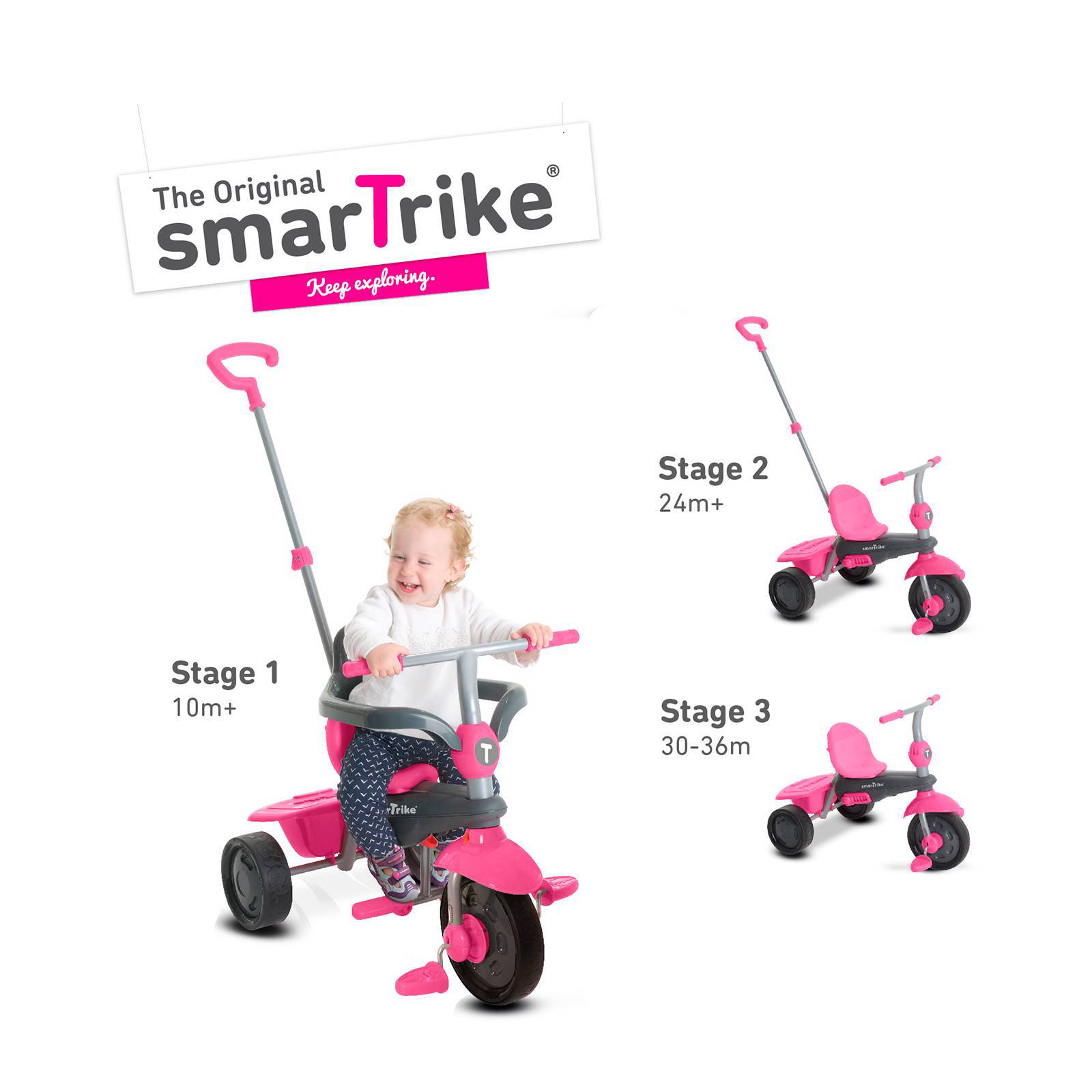 Smart Trike Roze Smartrike Smart Trike Breeze 3 In 1 Driewieler Wehkamp