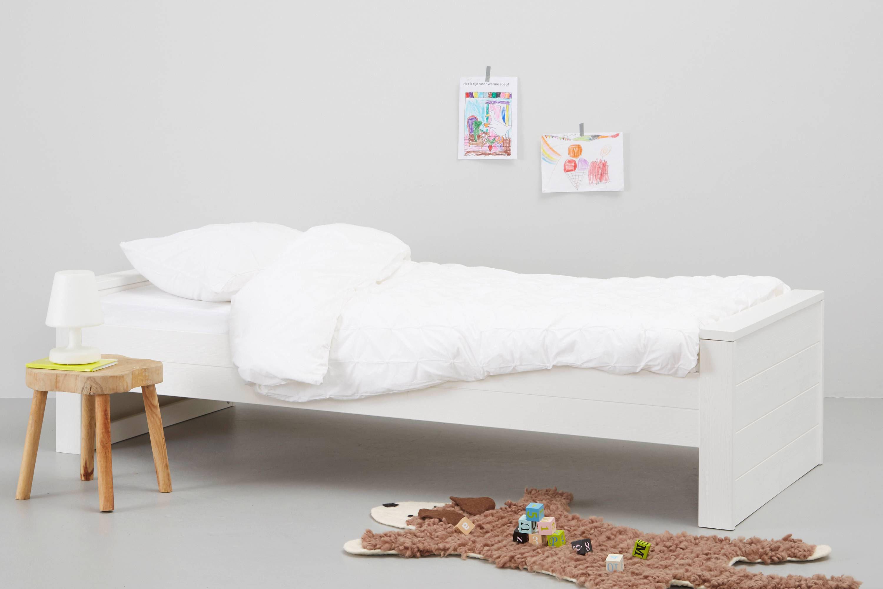 Bedbank Hout Bed Robin 90x200 Cm