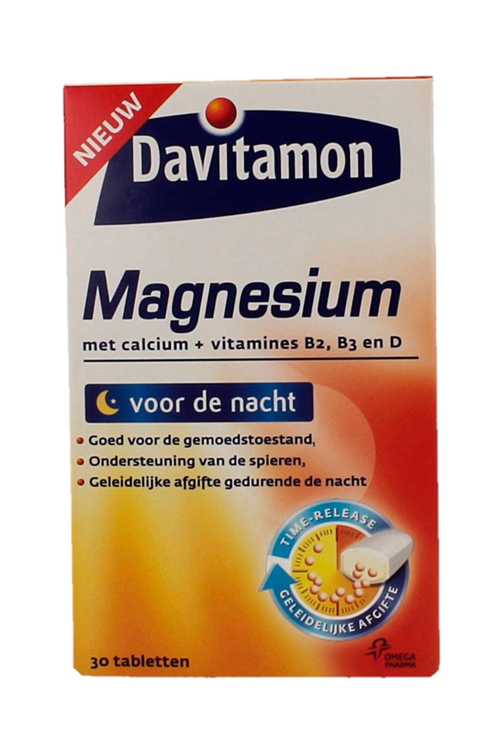 Calcium Tabletten Magnesium Voor De Nacht 30 Tabletten Voedingssupplement
