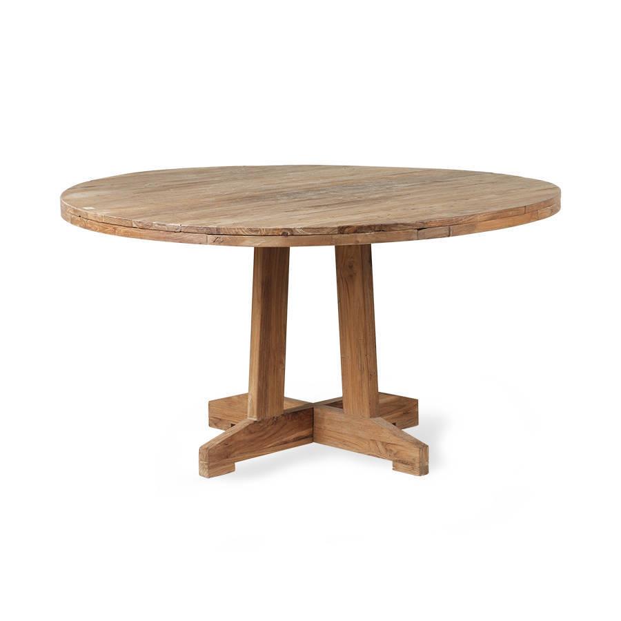 Eettafel bank teakhout vierkante eettafel gerecycled teak hout