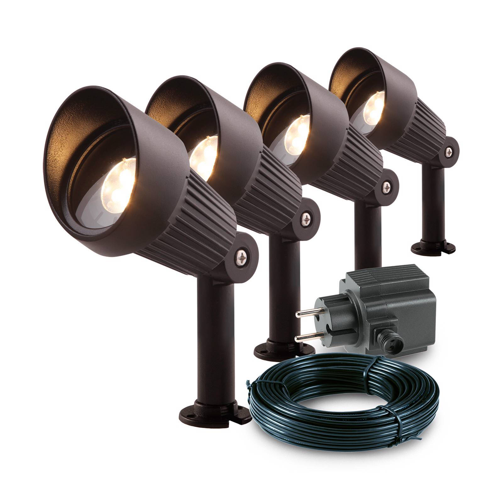 12v Tuinverlichting Set Garden Lights 12v Tuinspot Focus Set Van 4 Wehkamp