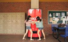 Hug Me Coca-Cola machine in Singapore