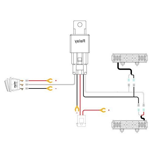Nilight LED Light Bar Wiring Harness Kit 12V