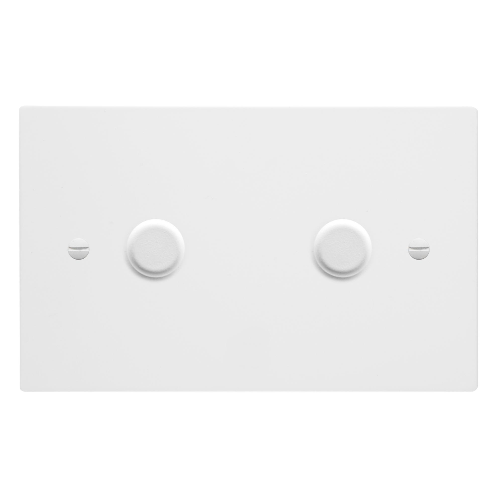 Dimmer Switch Dimmer Switch 2 Gang 400 Watt Double Plate Primed White