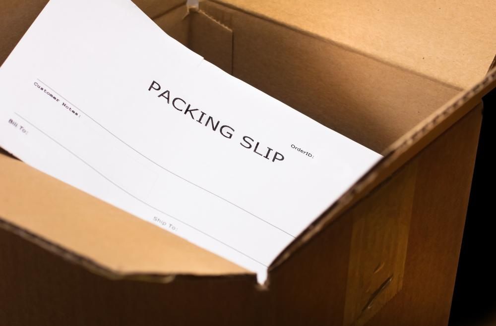 What is a Packing Slip? (with pictures) - blank packing slip