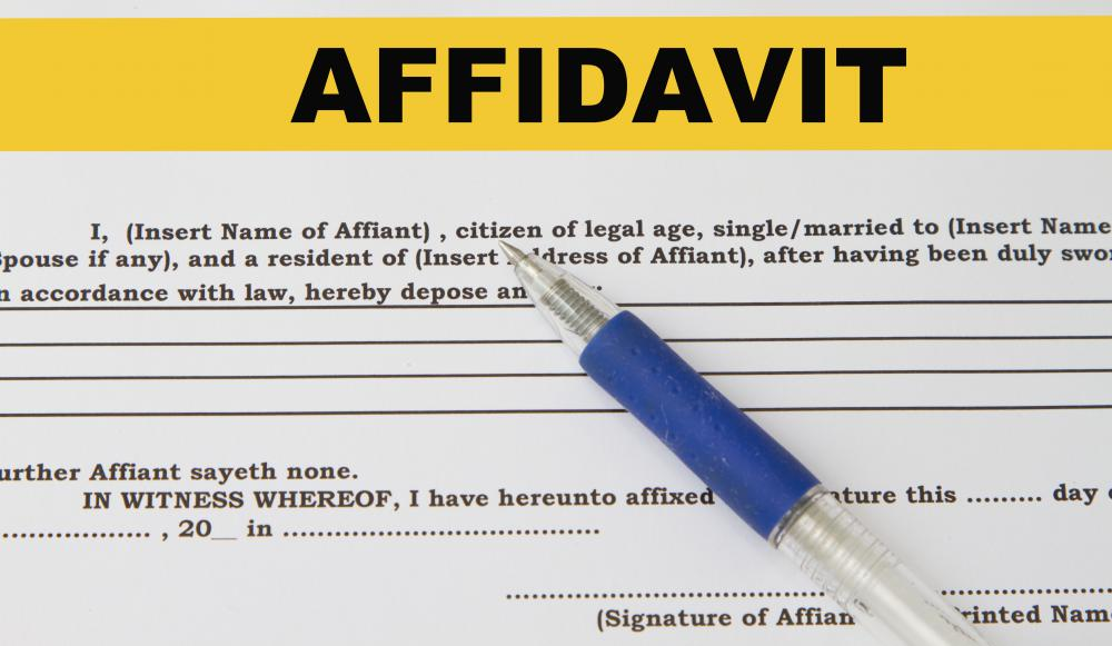 What is an Affidavit of Fact? (with pictures) - affidavit statement of facts