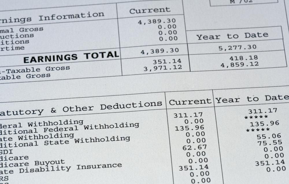What Is a Paycheck Stub? (with pictures)