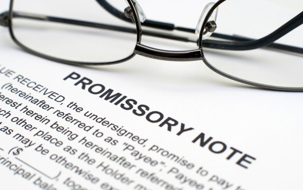 What is a Simple Promissory Note? (with picture)