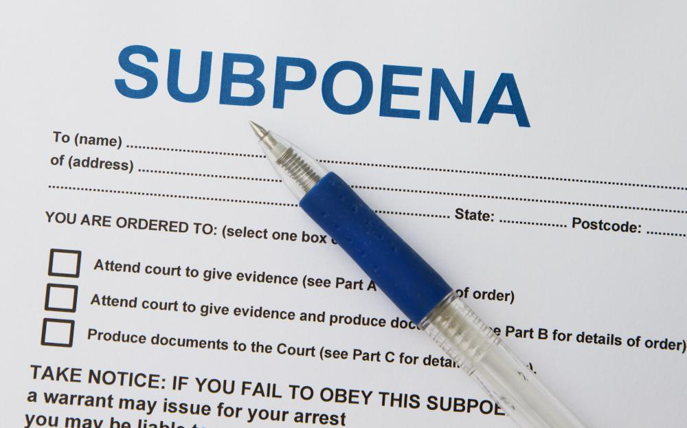 What is a Civil Subpoena? (with pictures) - Civil Summons Form