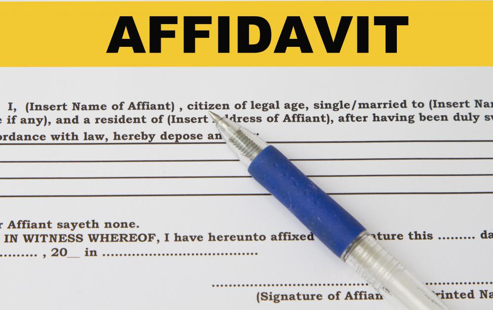 What Happens if I Lie on a Sworn Affidavit? (with pictures)