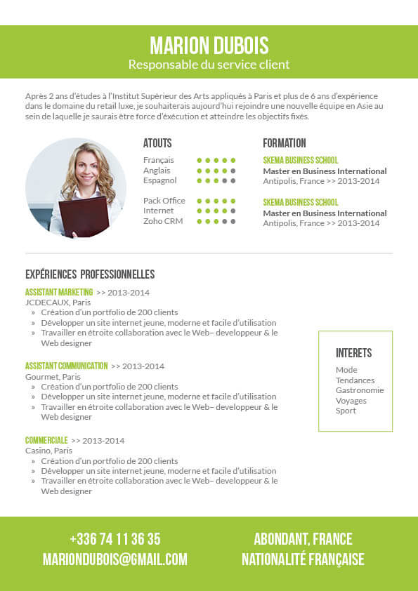 cv moderne agent de production