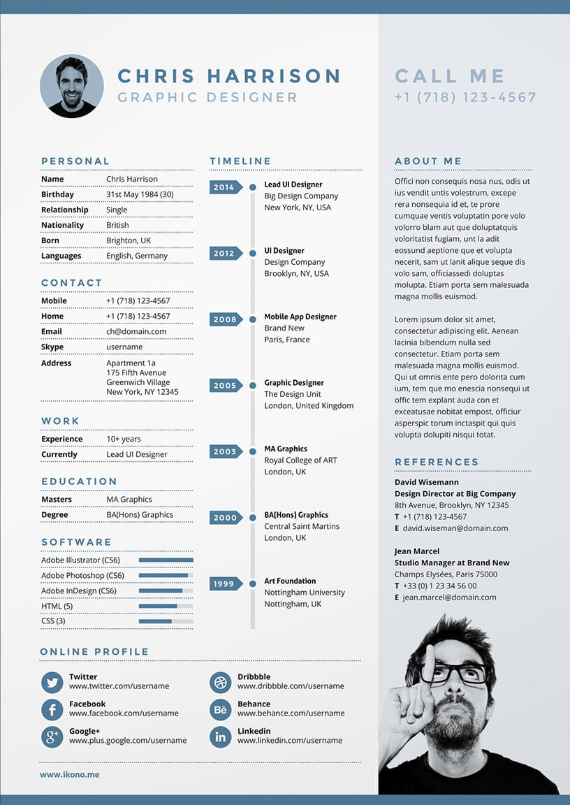 27 Examples Of Impressive Resumecv Designs Dzineblog 10 Creative Cv Designs To Inspire Your Job Search In 2017