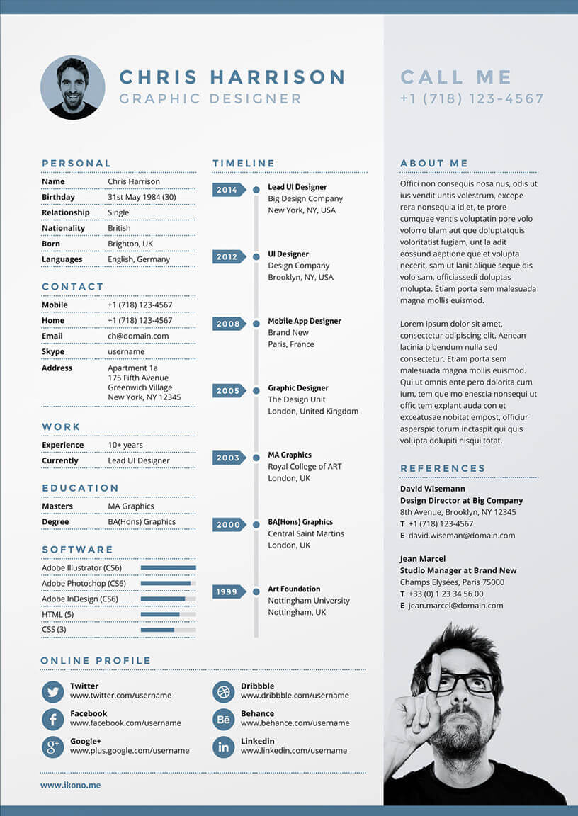 cv original design graphique