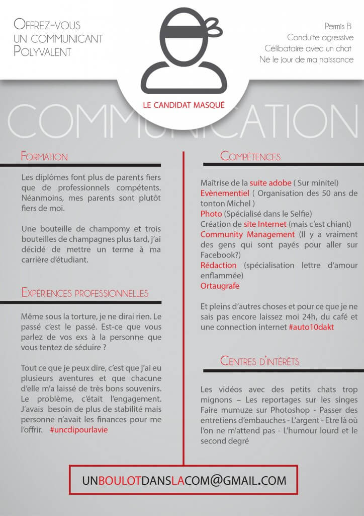 exemple de cv communiquant