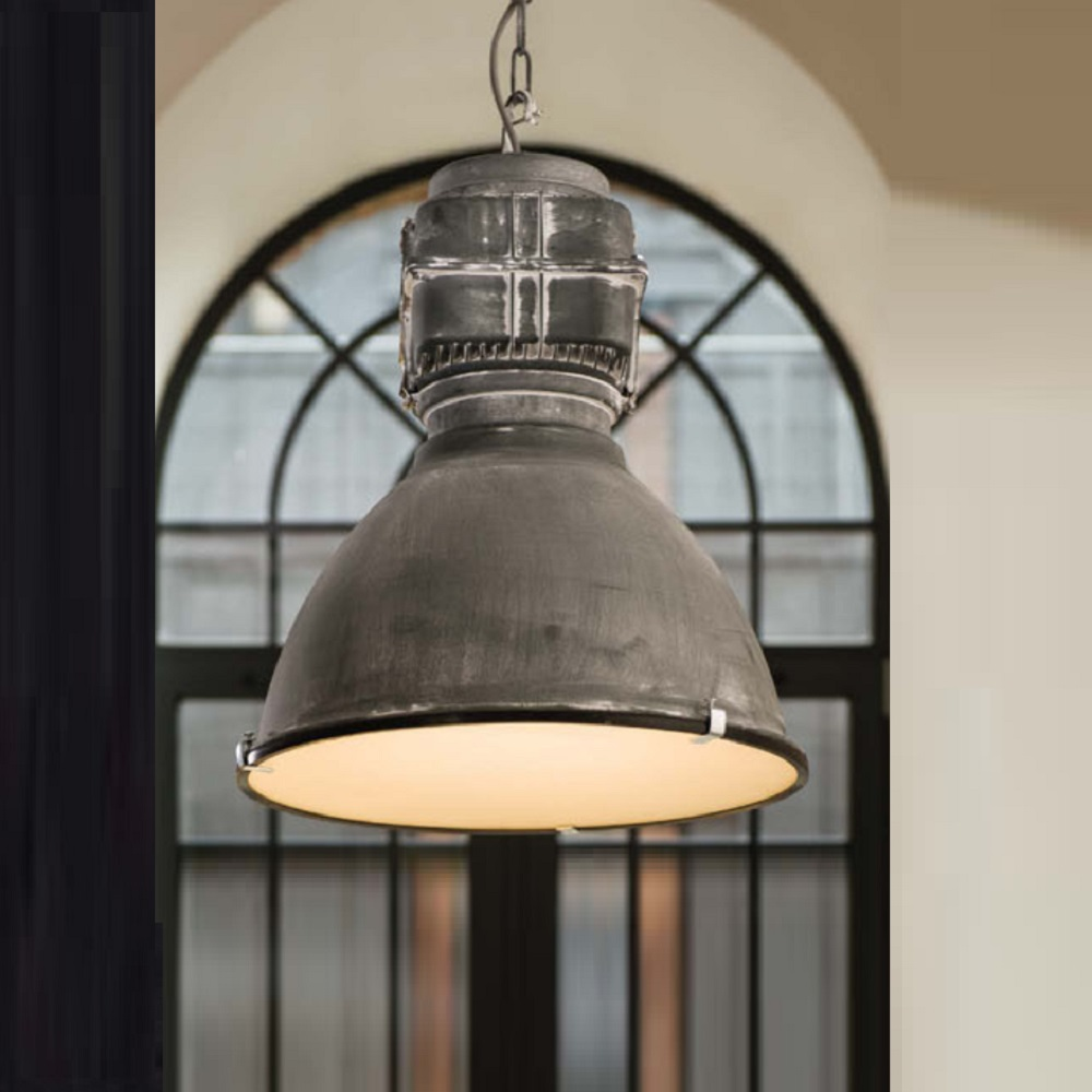 Pendelleuchte Industrie Pendelleuchte Boston Industrial Look Metall Glas