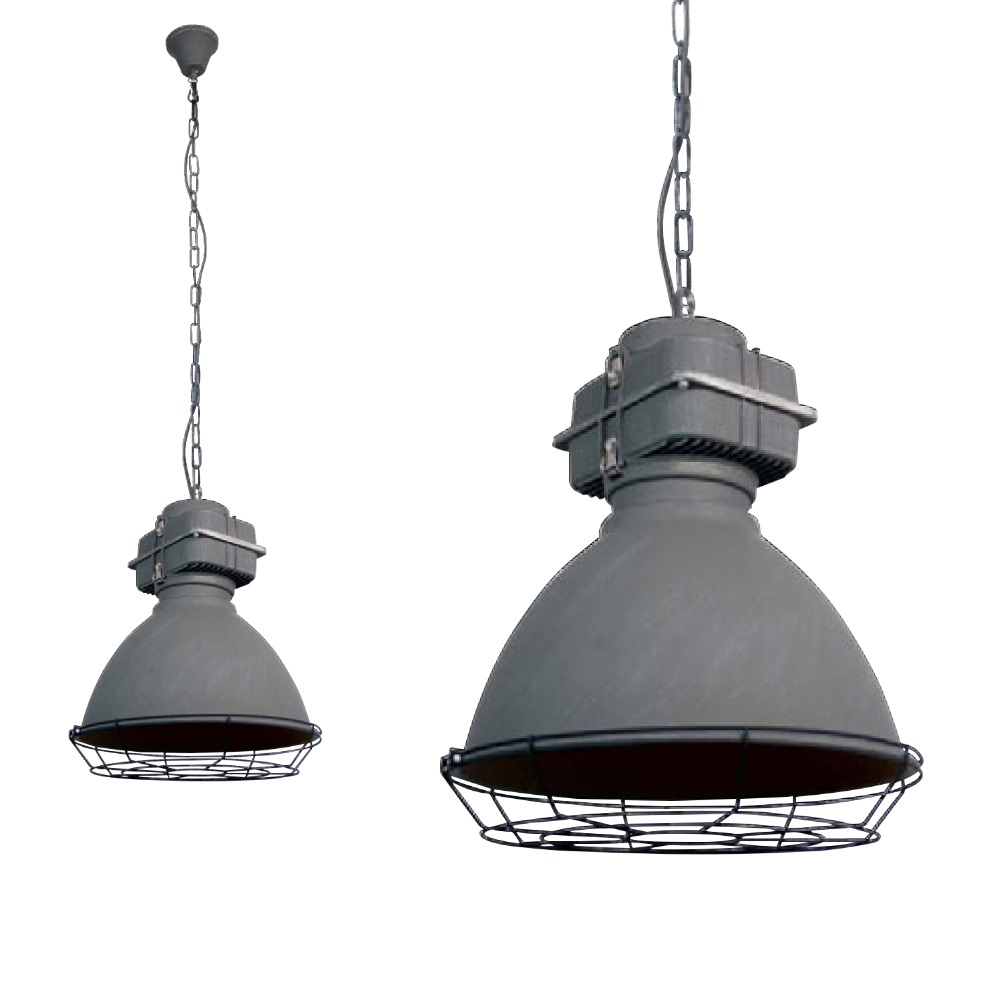 Pendelleuchte Industrial Spot Light Pendelleuchte Boston Gitter Industrial Look Metall Betongrau 1187132