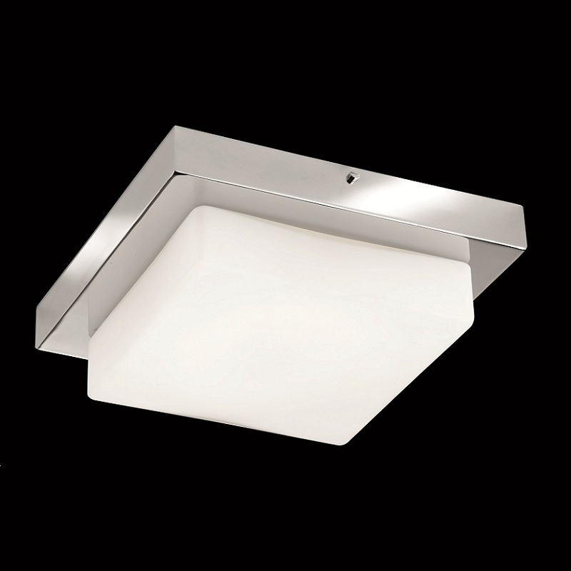 Led Badleuchte Led-badleuchte Ip44 In Chrom Mit Mattem Opalglas, 4x4,5w