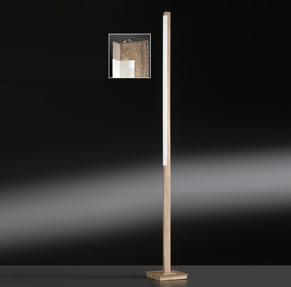 Leselampe Stehlampe Led Led-stehleuchte Stick Holz | Wohnlicht