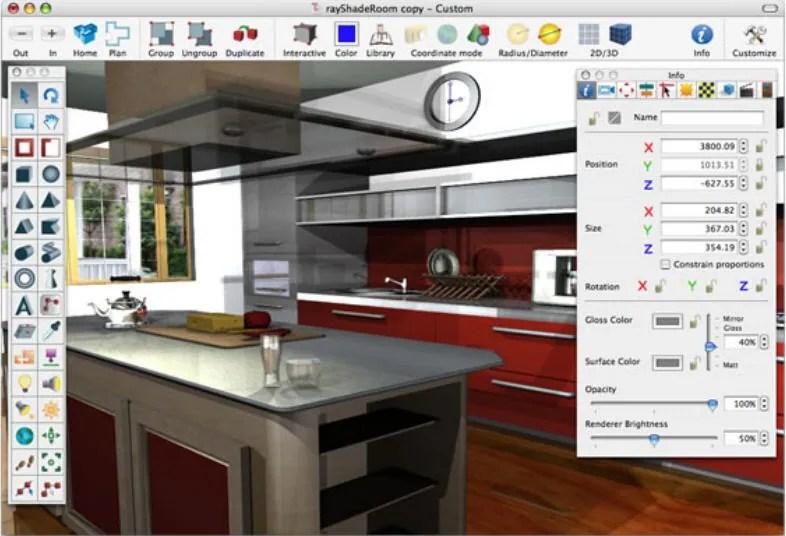 Free landscape design software for Mac - kitchen design programs
