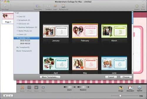 Photo Calendar Maker with 2012 Calendar Templates - calendar template for mac