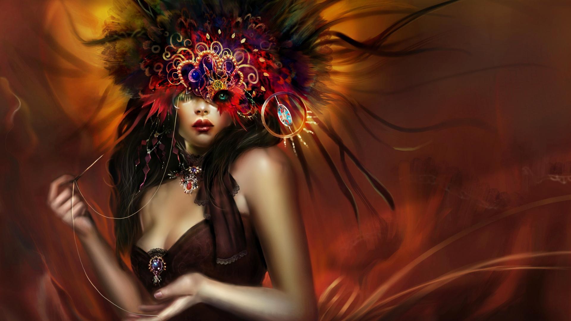 Fall Masquerade Fairies Wallpapers Fantasy Woman Masked Wallpapers 22 Wallpapers
