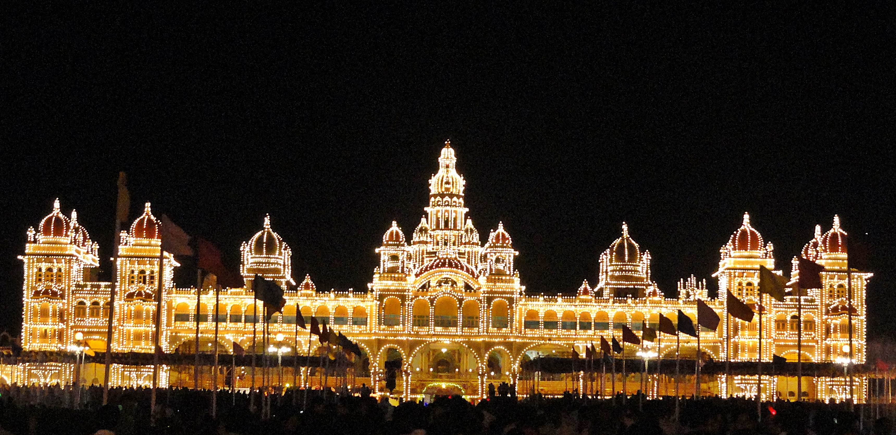 Palace Wallpaper Hd An Evening At Mysore Images Worthview