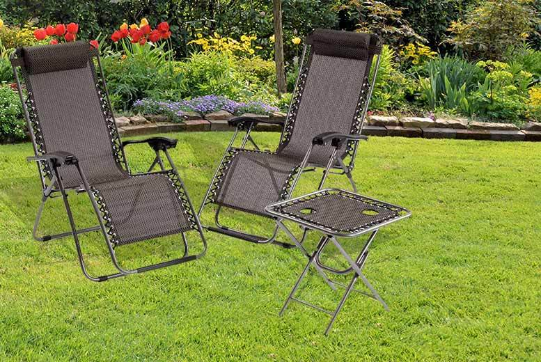 3pc Zero Gravity Reclining Chair Set With Table Shop