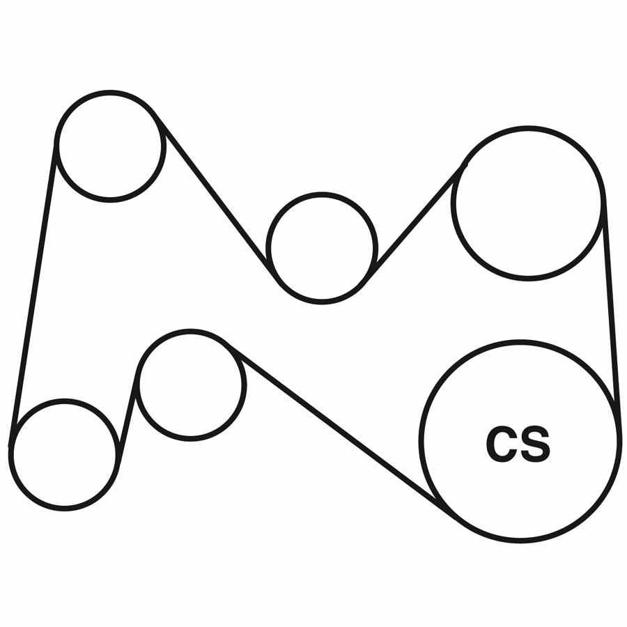 dodge ram serpentine belt routing diagram
