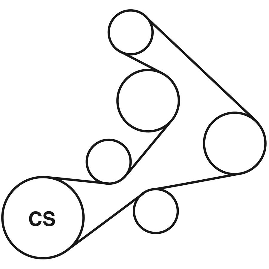 chevrolet corvette belt diagram