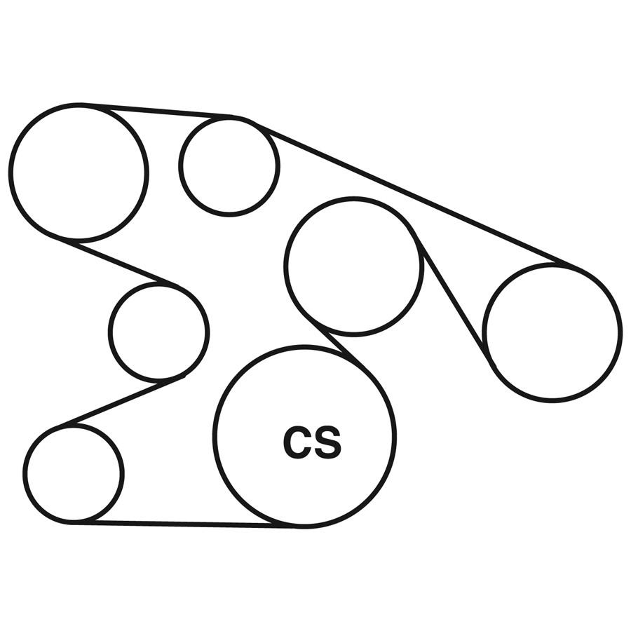 ford e250 belt diagram