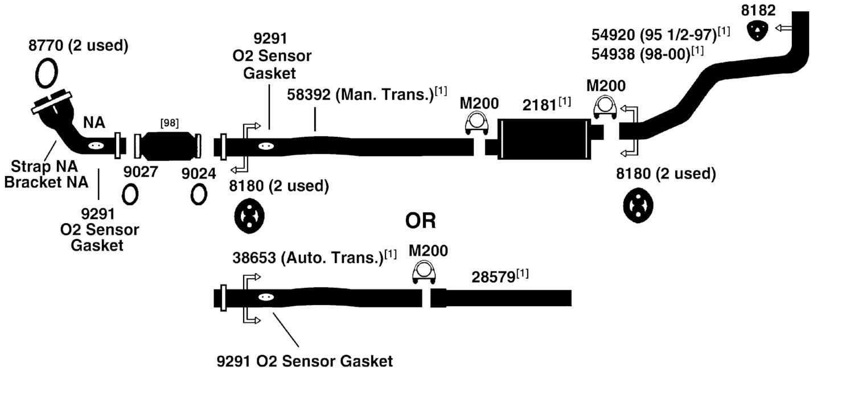 1995 subaru legacy exhaust diagram category exhaust diagram