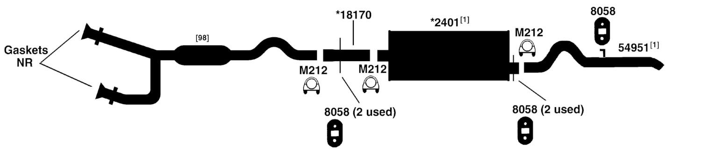 DODGE DURANGO Exhaust Diagram from Best Value Auto Parts