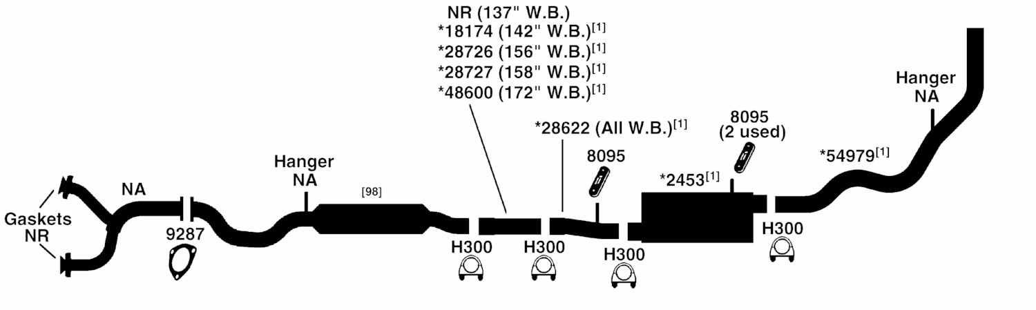FORD PICKUP F250 SUPER-DUTY Exhaust Diagram from Best Value Auto Parts