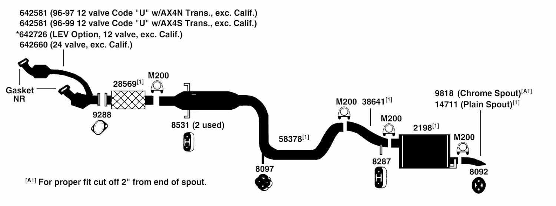 ford taurus exhaust diagram