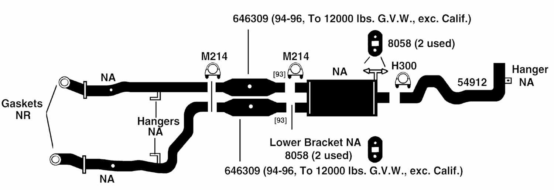 2004 dodge ram 1500 st exhaust components diagram