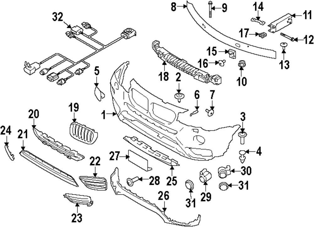 bmw x3 body parts diagram