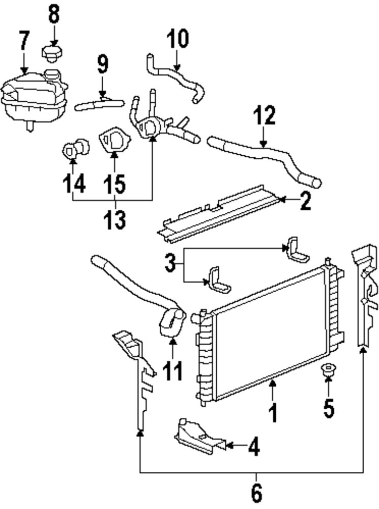 2004 Saturn Ion Radiator Diagram Additionally Saturn Sl2 Engine