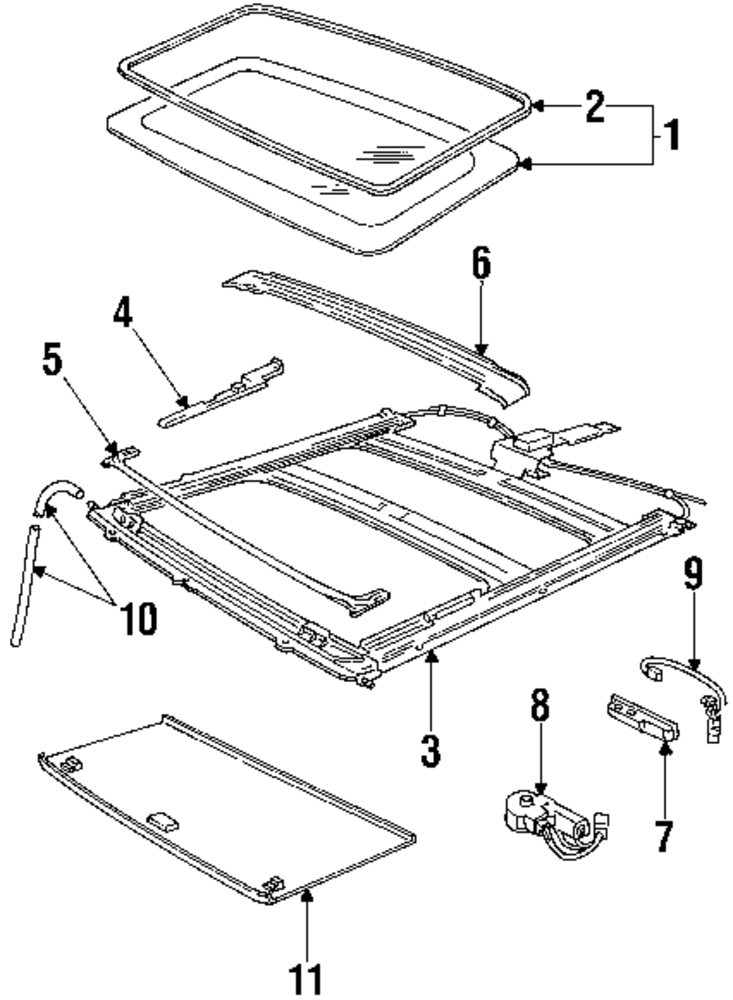 sunroof diagram for oldsmobile image details