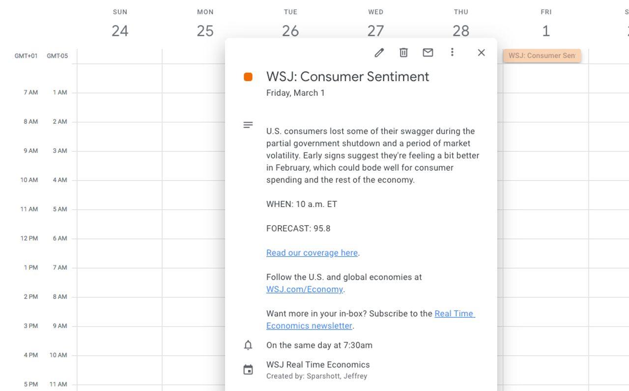 Get Our Real Time Economics Calendar - Real Time Economics - WSJ