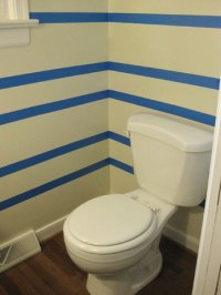 Here's How We Painted Subtle Tone On Tone Cream Stripes In ...