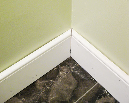 Bathroom Renovation How To Install Baseboards \ Trim Young - bathroom baseboard ideas
