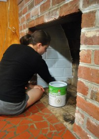 How To Prep, Prime, And Paint A Brick Fireplace | Young ...