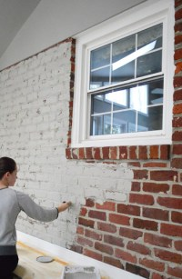 How To Paint A Brick Wall And Unify A Choppy Room | Young ...