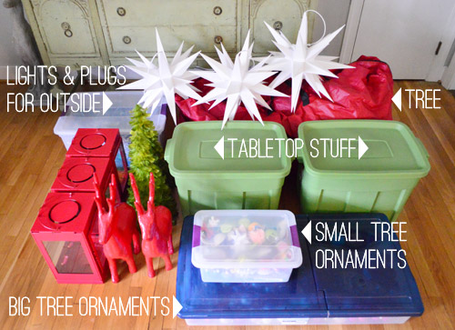 How We Pack Up And Store All Of Our Christmas Decorations Young - how to store christmas decorations