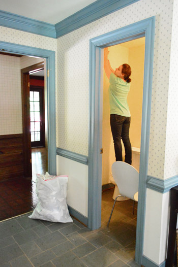 Using Hot Water To Strip Wallpaper   Young House Love