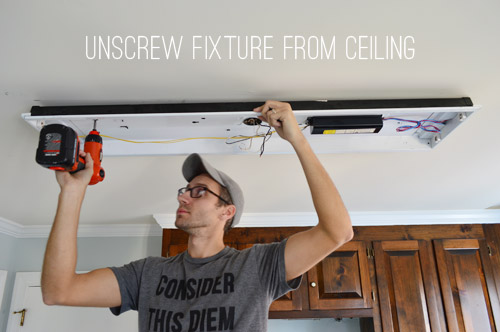 How To Replace Fluorescent Lighting With A Pendant Fixture | Young
