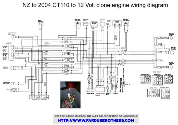 Wiring diagram for a Lifan conversion - Honda Trail - CT90  CT110 Forum