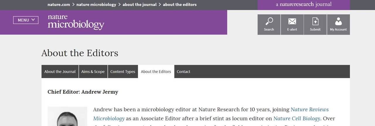 What\u0027s it like to work as an editor for Nature Microbiology