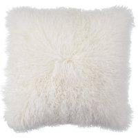 White Mongolian Fur Pillow   Chic Accents & Decor   Z Gallerie